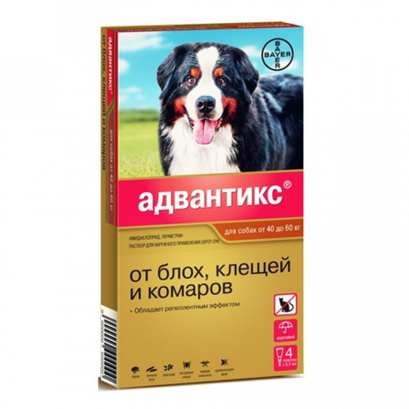 Адвантикс GOLD Капли антипаразитарные для собак от 40 до 60 кг