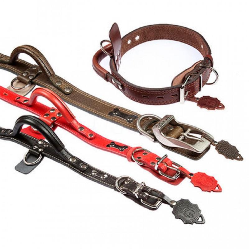 Dogger Ошейник для собак, с ручкой, ширина 4,5 см, длина 75-80 см