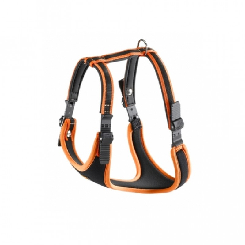 Ferplast Ergocomfort P Шлейка для собак, обхват шеи 50-60 см, обхват груди 70-80 см, оранжевая