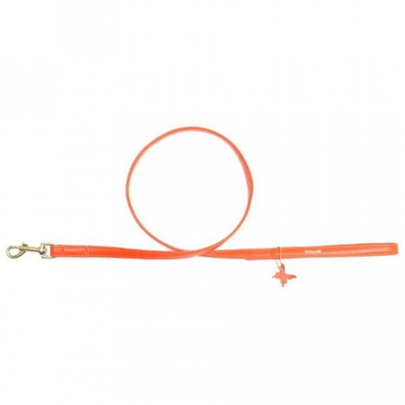 CoLLaR GLAMOUR Поводок оранжевый (ширина 12 мм, длина 122 см)