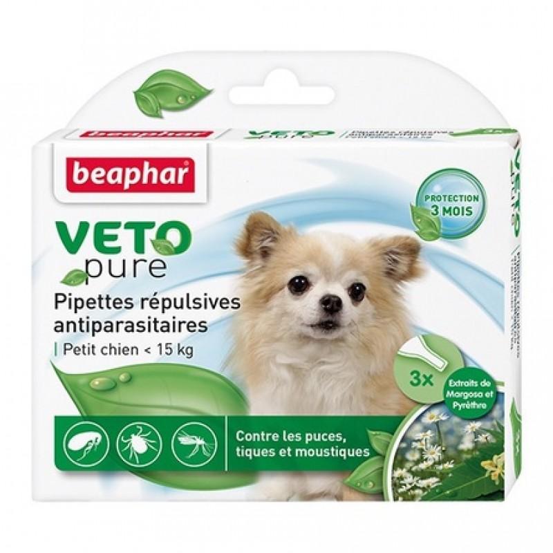 Beaphar VETO pure БИО капли от блох и клещей для собак мелких пород