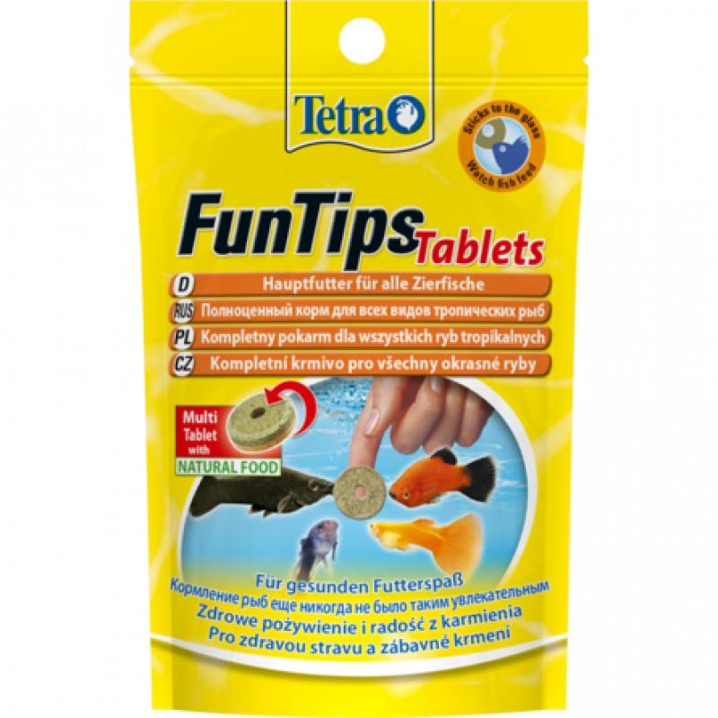 Tetra FunTips Tablets Корм для рыб, приклеивающиеся таблетки