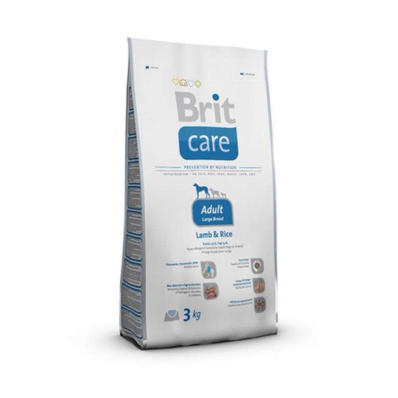 Brit Care Adult Large Breed Сухой корм для взрослых собак крупных пород (с ягненком и рисом), 3 кг