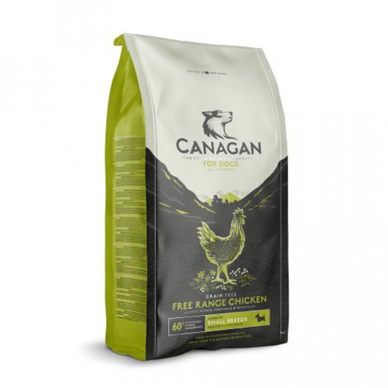 CANAGAN Grain Free Free-Run Chicken Small Breed Беззерновой сухой корм для собак и щенков мелких пород (с цыплёнком), 500 гр