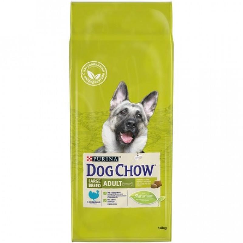 Dog Chow Adult Large Breed Сухой корм для взрослых собак крупных пород (с индейкой), 14 кг