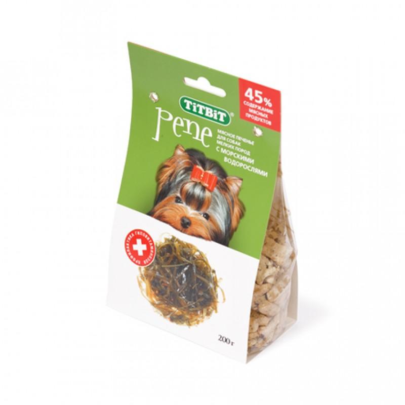 TiTBiT Pene Печенье для взрослых собак мелких и средних пород (с морскими водорослями), 200 гр