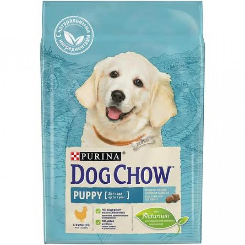 Dog Chow Puppy Сухой корм для щенков всех пород (с курицей), 800 гр