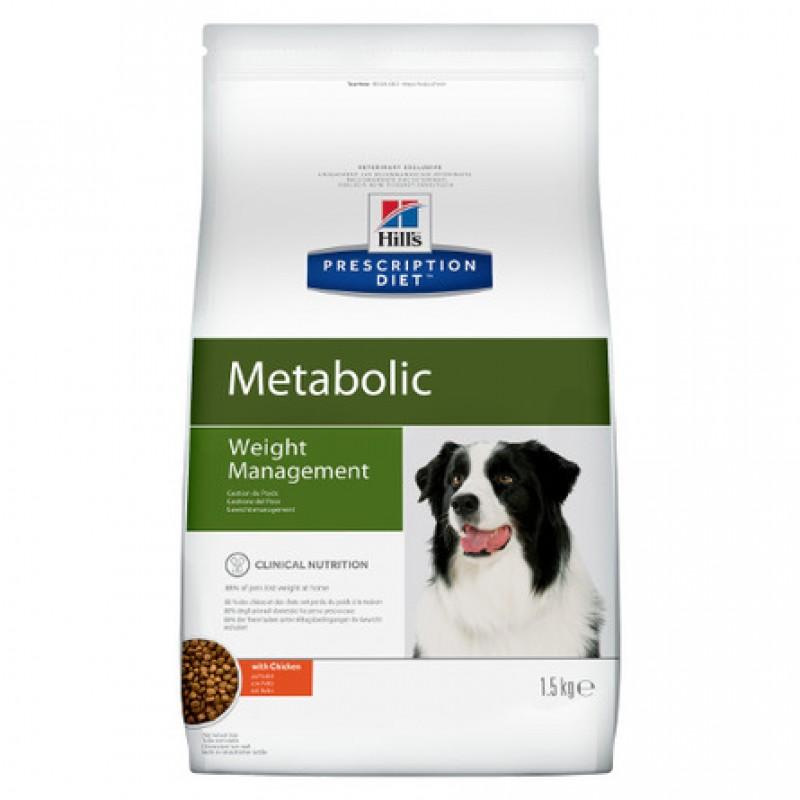 Hill's Prescription Diet Metabolic Weight Management Сухой лечебный корм для взрослых собак для контроля избыточного веса (с курицей), 1,5 кг