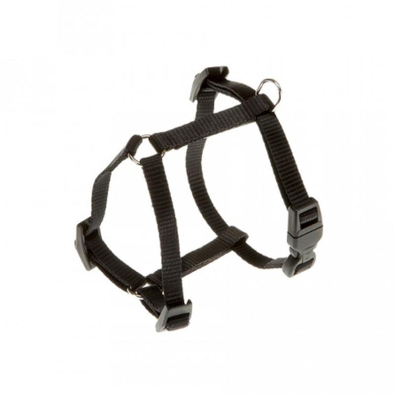 Ferplast Champion Шлейка для собак, ширина 1,5 см, обхват шеи 36-56 см, обхват груди 44-72 см, черная