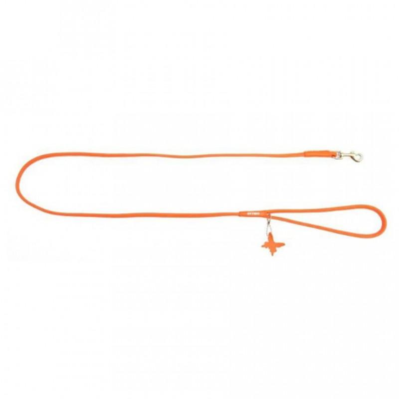 CoLLaR GLAMOUR Поводок круглый оранжевый (ширина 8 мм, длина 122 см)