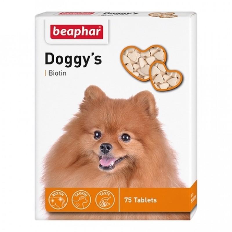 Beaphar Doggy's Biotin Витаминное лакомство для взрослых собак (с биотином), 75 таблеток