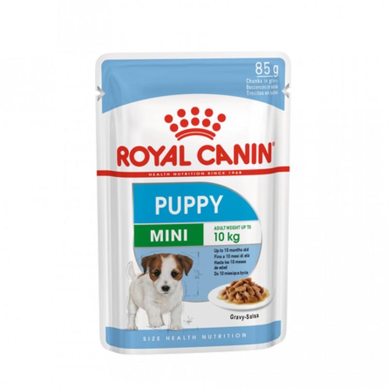 Royal Canin Mini Puppy Кусочки паштета в соусе для щенков мелких пород, 85 гр