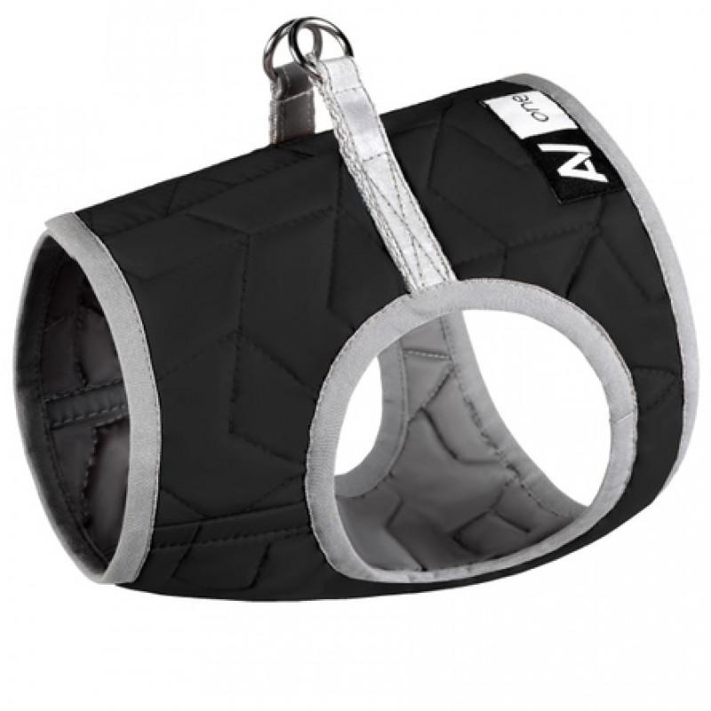 Collar AiryVest One S1 Мягкая шлейка для собак, чёрная