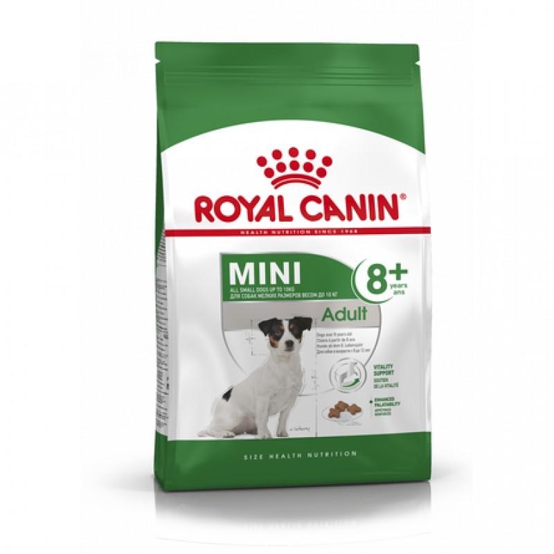 Royal Canin Mini Adult 8+ Сухой корм для пожилых собак мелких пород старше 8 лет, 4 кг