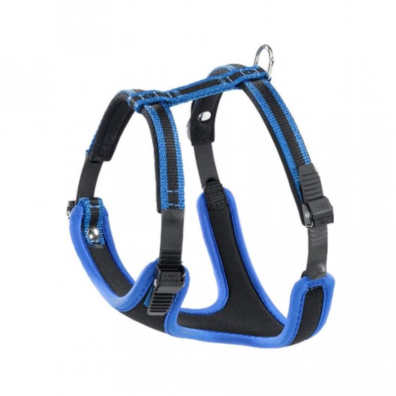Ferplast Ergocomfort P Шлейка для собак, обхват шеи 32-42 см, обхват груди 46-56 см, синяя
