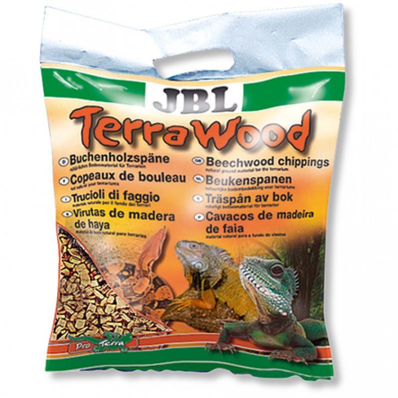 JBL TerraWood Буковая щепа натуральный донный субстрат для сухих и полусухих террариумов, 3 л