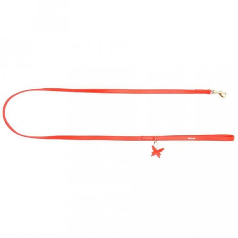 CoLLaR GLAMOUR Поводок красный (ширина 9 мм, длина 122 см)