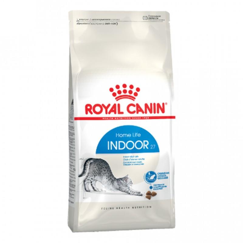 Royal Canin Indoor Облегченный сухой корм для взрослых домашних и малоактивных кошек, 10 кг