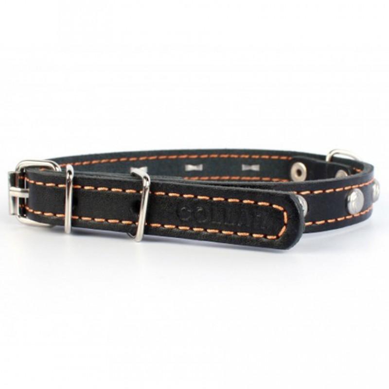 Collar Ошейник для собак одинарный, ширина 1,4 см, длина 27-35 см, черный