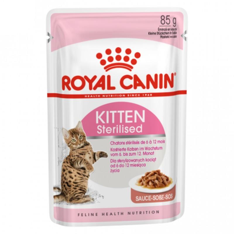 Royal Canin Kitten Sterilised Кусочки паштета в соусе для стерилизованных котят, 85 гр