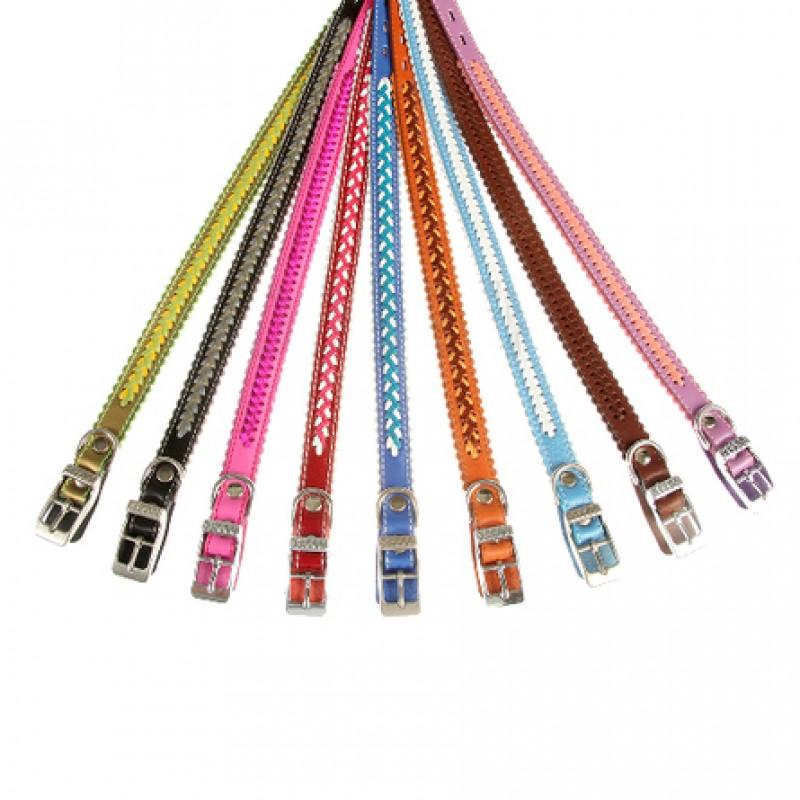 Dogger Ошейник для собак, с плетением, цветной, ширина 1,7 см, длина 30-40 см