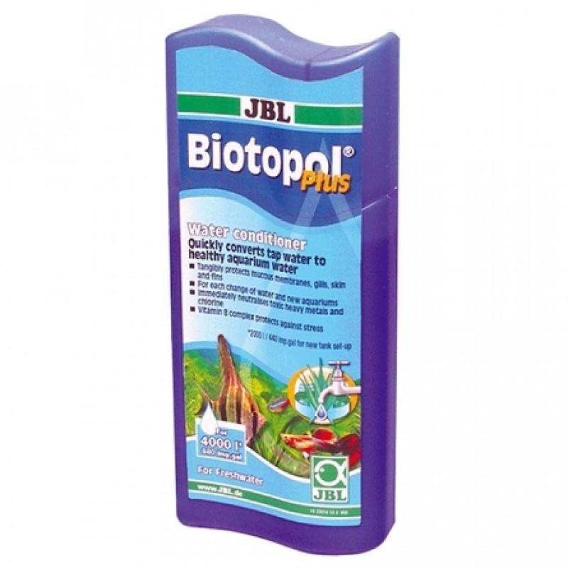 JBL Biotopol plus Препарат для удаления хлора и подготовки воды, защищает рыб при стрессе, 250 мл