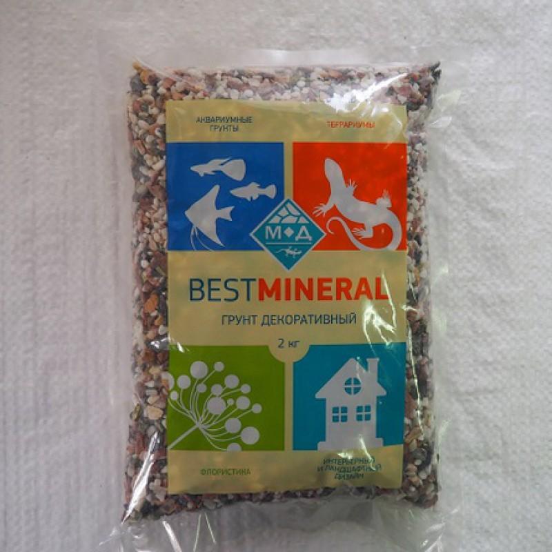 Best Mineral Галька пестрая Карнавал, фракция 3-5 мм, 2 кг