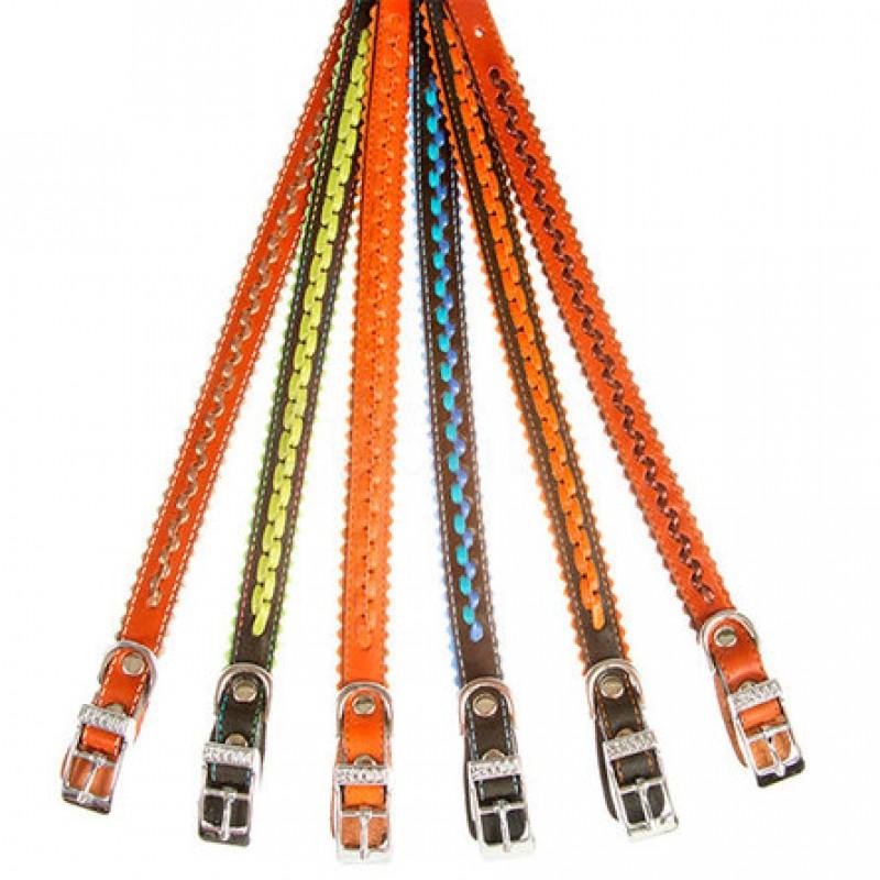 Dogger Ошейник для собак, с плетением, ширина 1,2 см, длина 22-35 см