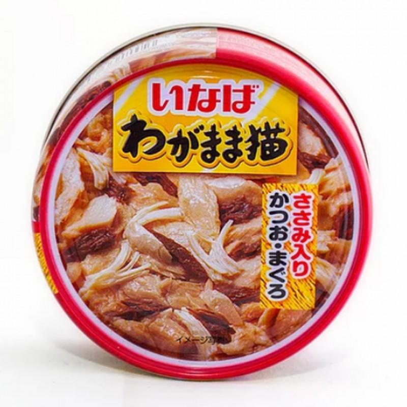 INABA влажный корм для кошек (японский тунец с парной курицей), 115 гр