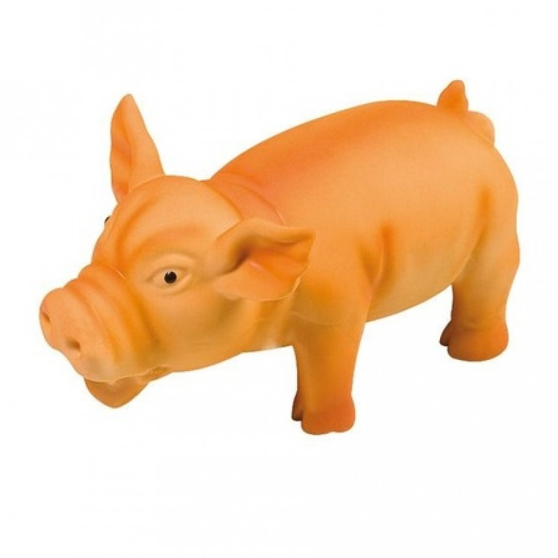Flamingo игрушка хрюкающая оранжевая Свинка для собак