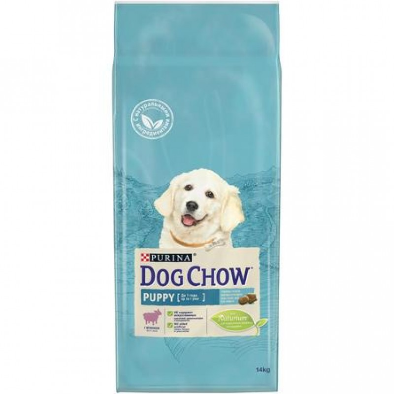 Dog Chow Puppy Сухой корм для щенков всех пород (с ягненком), 14 кг