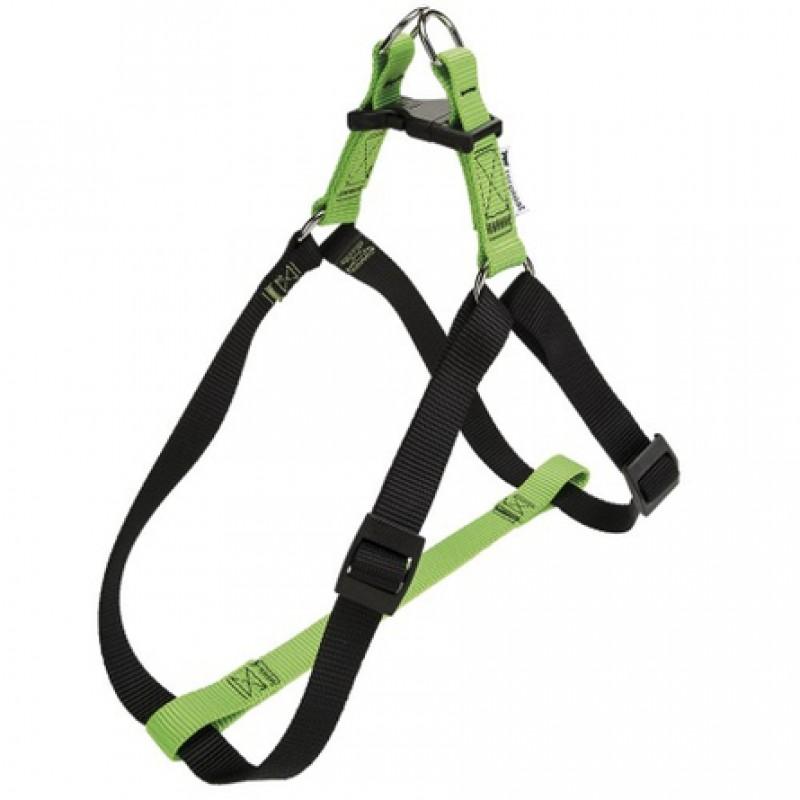 Ferplast Easy Colours P Шлейка для собак, ширина 1 см, обхват шеи 32-47 см, обхват груди 32-47 см, зеленая