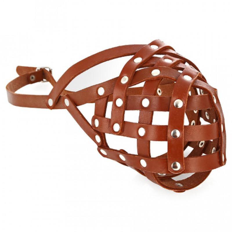 Collar Намордник мягкий №4, коричневый