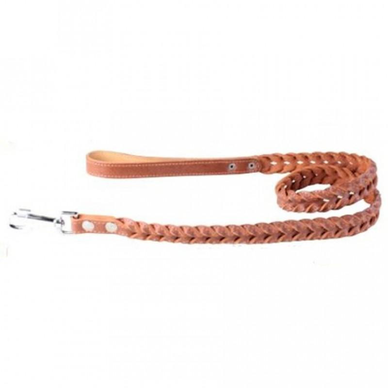 Collar Поводок плетеный двойная коса коричневый (ширина 20 мм, длина 122 см)