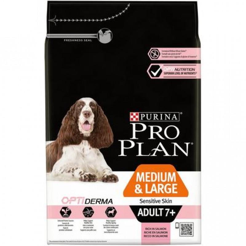 Pro Plan Senior Sensitive Skin Сухой корм для пожилых собак с чувствительной кожей и шерстью (с лососем и рисом), 3 кг
