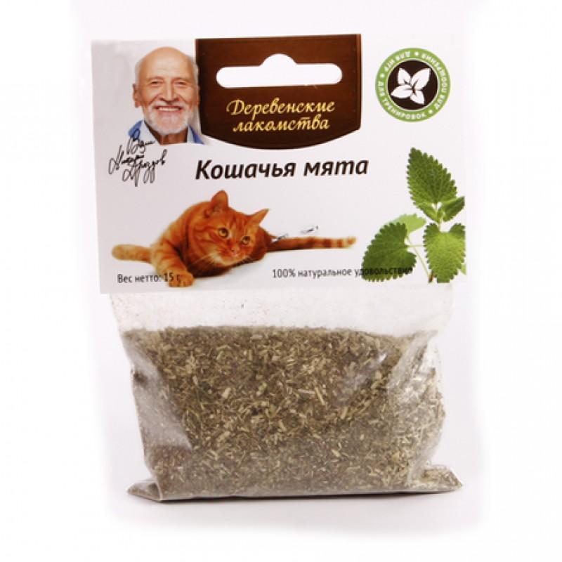Деревенские Лакомства Кошачья мята для взрослых кошек, 15 гр