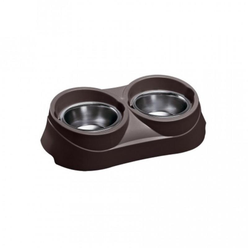 Ferplast Duo Feed 03 Миска для собак, коричневая, металл