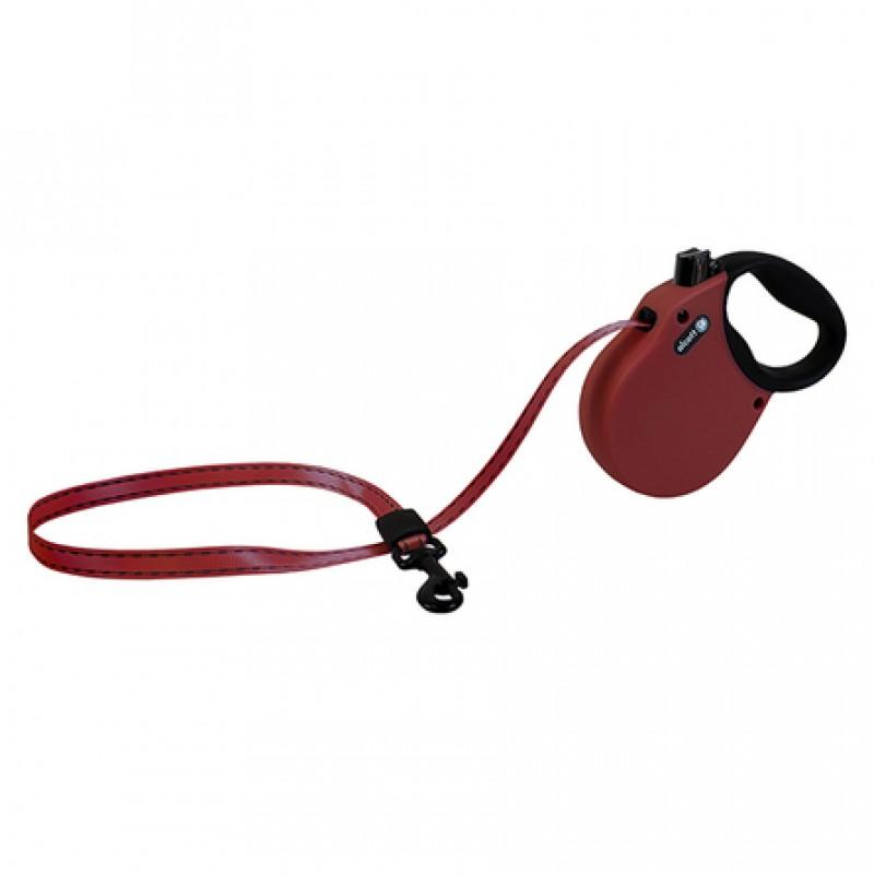 Alcott Adventure XS Поводок-рулетка для собак до 11 кг, лента, бордо