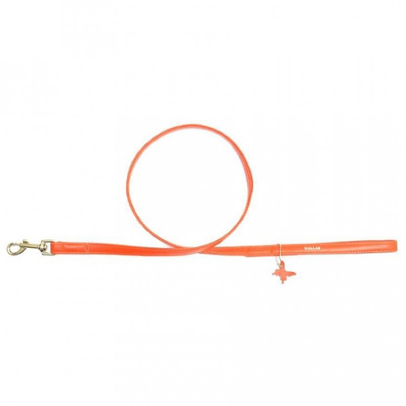 CoLLaR GLAMOUR Поводок оранжевый (ширина 9 мм, длина 122 см)