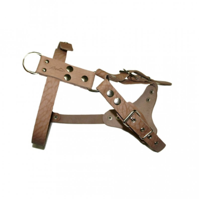Аркон Шлейка водильная, ширина 2,5 см, обхват шеи 63-81 см, обхват груди 50-67 см, бежевая