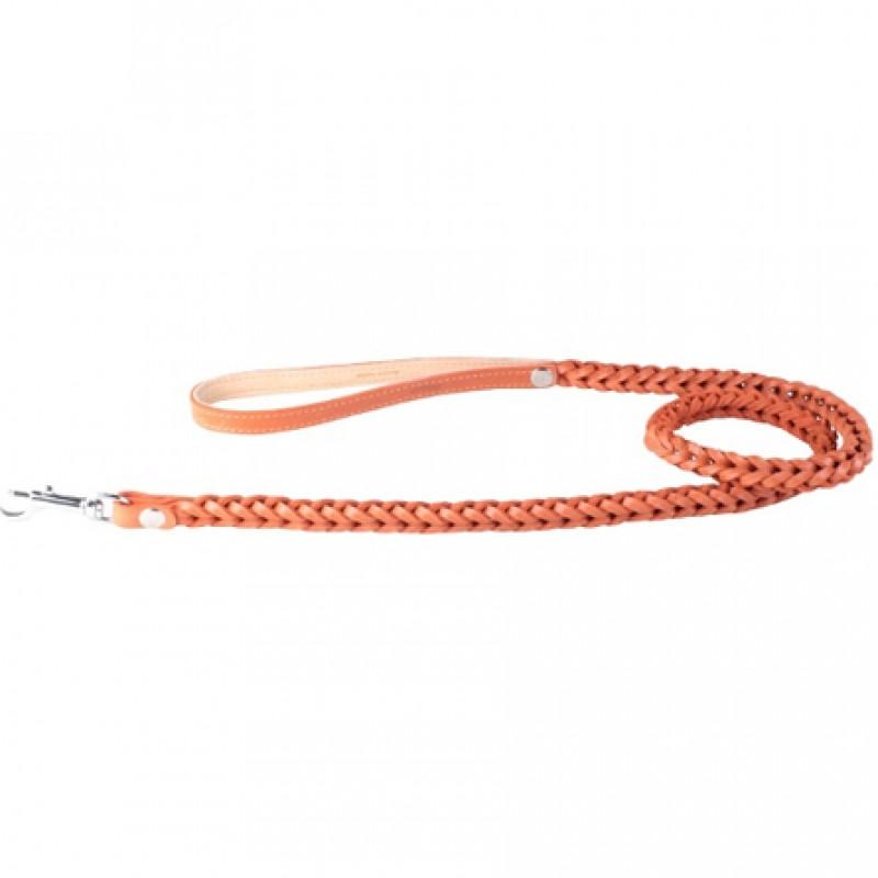 Collar Поводок квадратное плетение коричневый (ширина 16 мм длина 122 см)