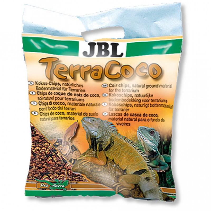 JBL TerraCoco Кокосовая стружка, натуральный донный субстрат для террариумов, 5 л
