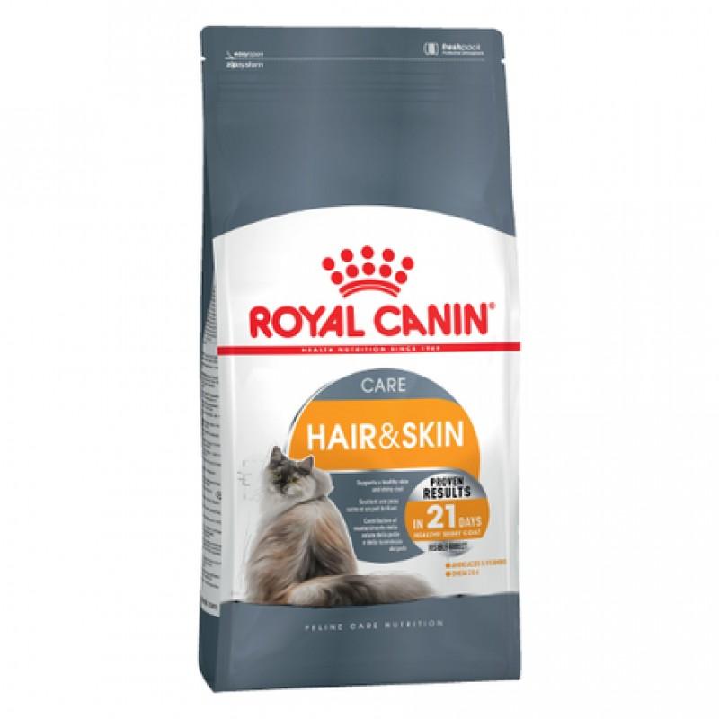 Royal Canin Hair And Skin Сухой корм для взрослых кошек с чувствительной кожей и шерстью, 10 кг