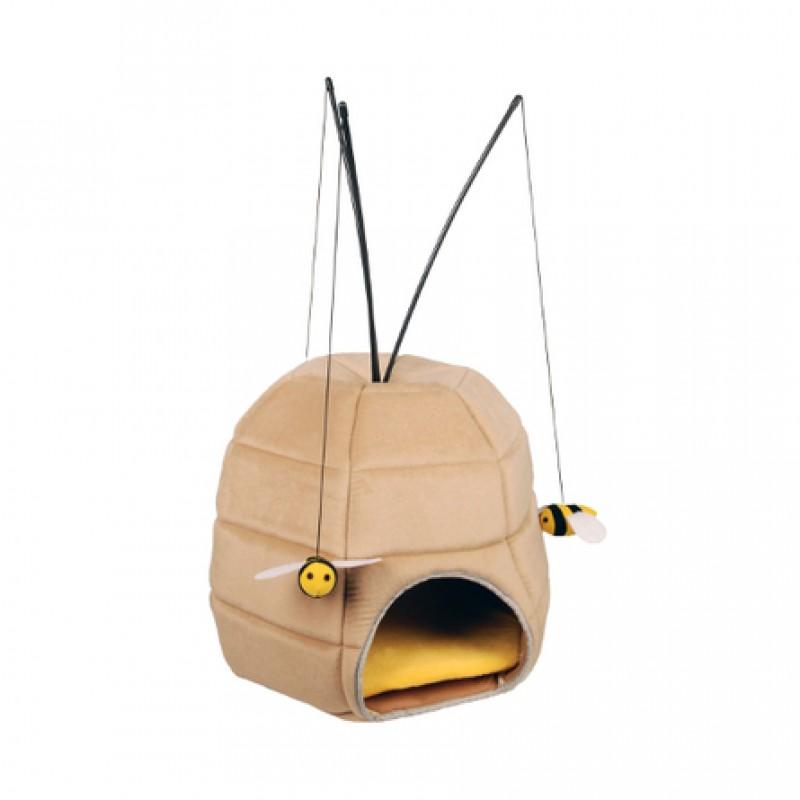 Flamingo Дом-пчелиный улей с игрушками Игрушка для кошек