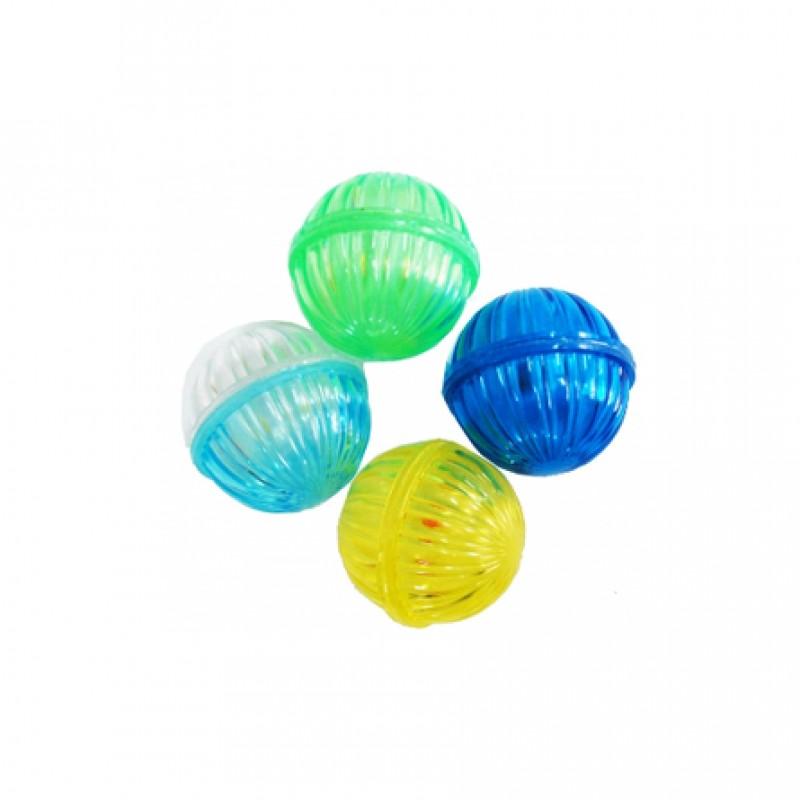 УЮТ Мяч-погремушка Орех Игрушка для кошек, прозрачный
