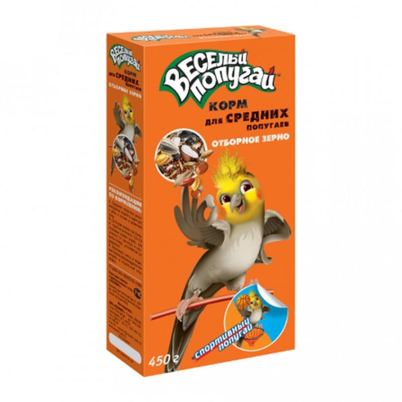 Зоомир Весёлый попугай Корм для средних попугаев, 450 гр
