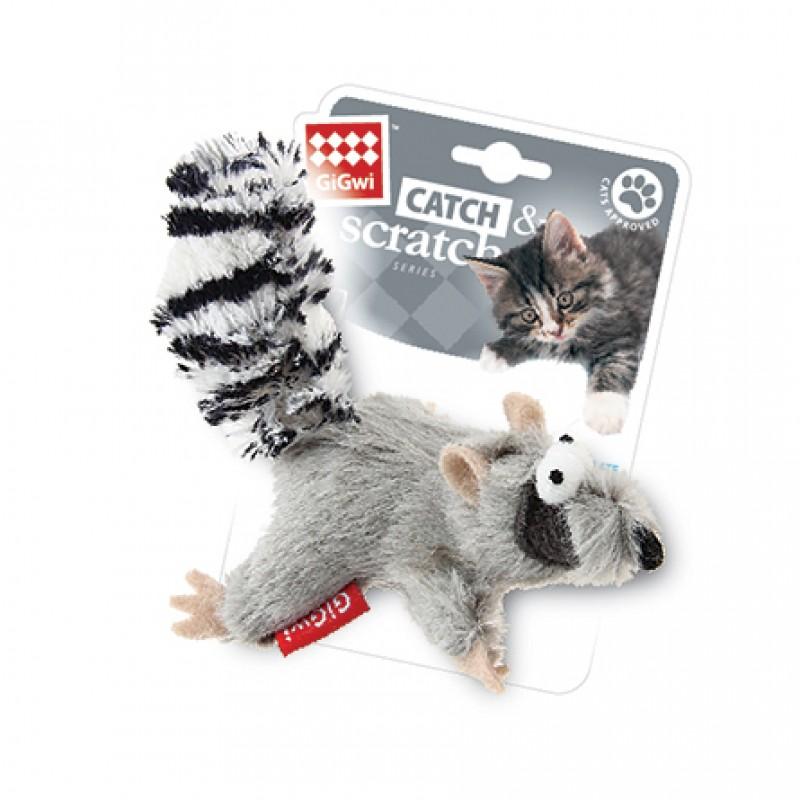 GiGwi Игрушка для кошек Енот с кошачьей мятой