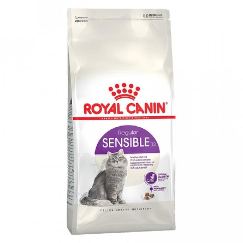 Royal Canin Sensible Сухой корм для взрослых кошек с чувствительным пищеварением, 15 кг