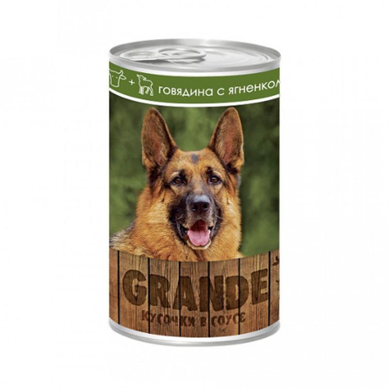 Vita Pro Grande Кусочки паштета в соусе для взрослых собак всех пород (с говядиной и ягненком), 1,25 кг