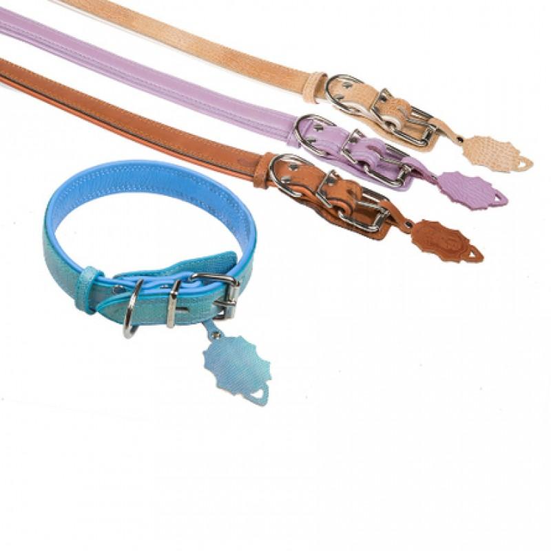 Dogger Ошейник для собак, подвернутый, цветной, ширина 3 см, длина 45-60 см